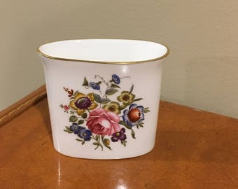 Floral fine bone china container
