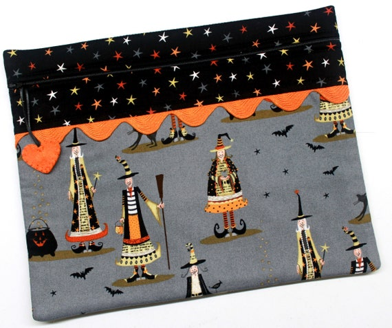 Halloween Witchy Friends Cross Stitch Embroidery Project Bag