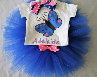Personalized Butterfly Outfit for baby/Newborn outfit baby girl/Butterfly shirt/Butterfly tutu/Butterfly baby outfit