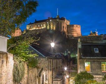 Edinburgh Castle from The Vennel Photograph