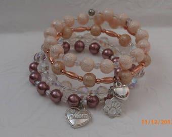 Inspirational Charm Wrap Bracelet- Mom