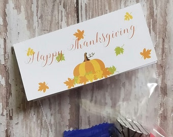 Thanksgiving Bag Topper, Treat Bag Topper, Thanksgiving Party Favor, Christmas Tags, Thanksgiving Bag Topper, Mini Bag Top (T05)