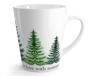 Forest Trees Ceramic Latte Mug