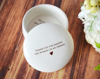 Unique Mother of the Bride Gift or Birthday Gift -  SHIPS FAST - Keepsake Box - Thank you for raising the woman of my dreams - With Gift Box