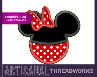 Minnie Mouse Disney Applique Embroidery Files Download 6 sizes