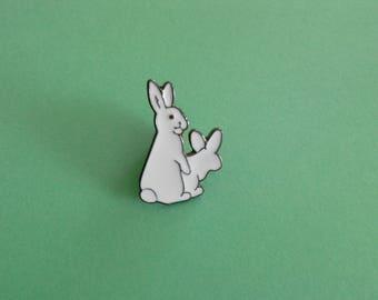 White rabbits badges
