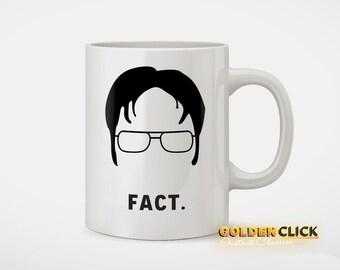 Dwight Schrute Fact Funny Coffee Mug