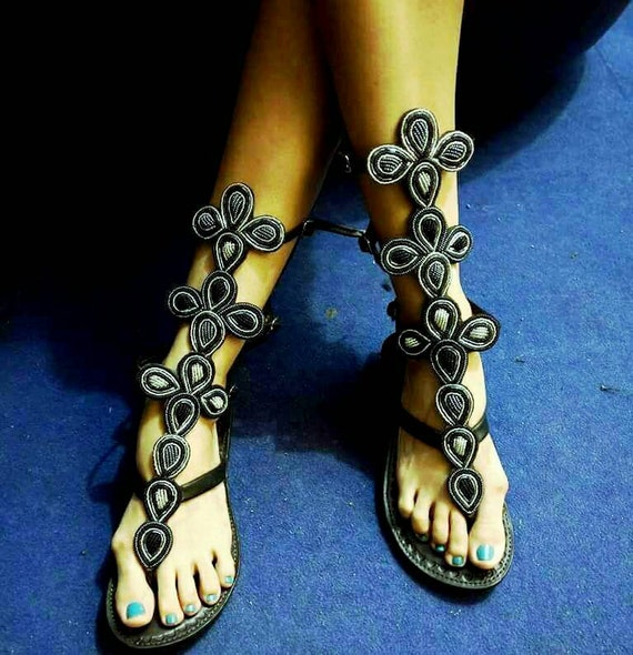 Sandals Gladiator Sandals Masai Women African Her African For Sandals Sandals African Beaded For Women Leather Gift Sandals For YSwxqId