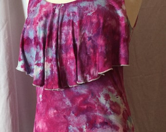 Sleeveless Ice Dyed Pullover Top, Ladies Size Small, #181