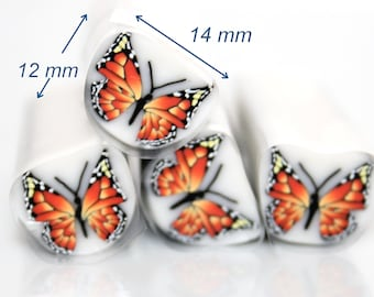 Butterfly Polymer Cane *Monarch*