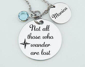 Inspirational Traveler, Not All Those Who Wander Are Lost, Wanderer, Graduation Gift, Overseas, Mission