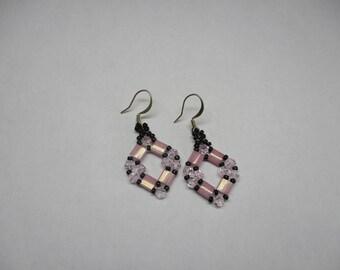 Swarovski crstal and Tila earrings