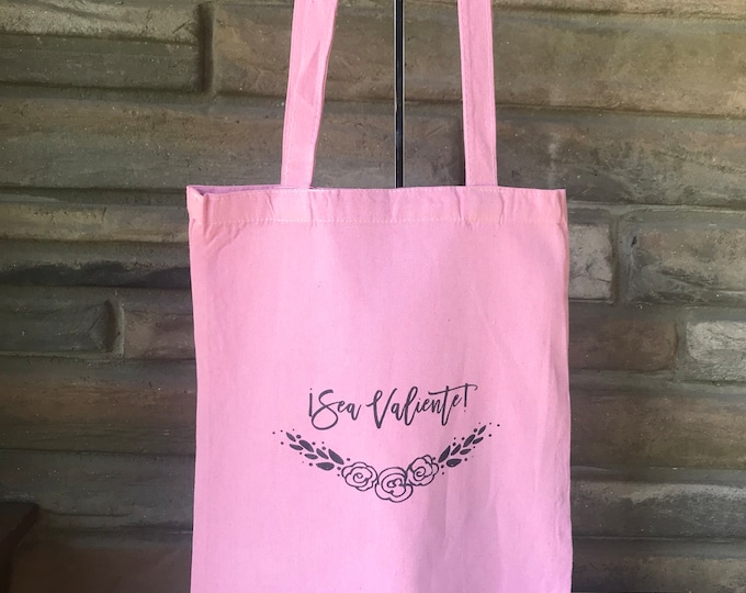 Sea Valiente! Natural Cotton Tote Limited Edition  Colors