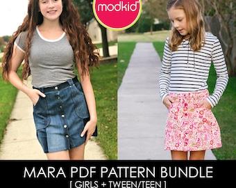 Mara Girls and Tween Teen PDF Pattern Bundle by MODKID - Instant Digital Download - Buy 2 and SAVE!