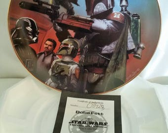 "Vintage Star Wars Collectible Plate ""Boba Fett"""