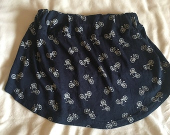 Blue Bicycle Girls Skirt