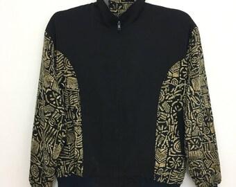 Vintage BONHEUR Jacket Silk Jacket Very Nice Design eAa2KyWpzR