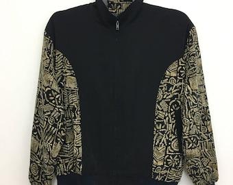 Vintage BONHEUR Jacket Silk Jacket Very Nice Design