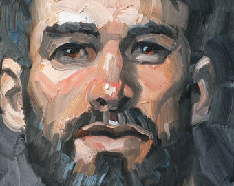 He Retained His Youthful Idealism, oil on canvas panel, 9x12 inches, by KennEy Mencher