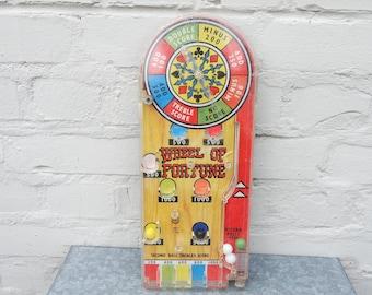 "Vintage 50s Marx GB ""Wheel of Fortune"" table flipper/bagatelle/baseball/pinball"