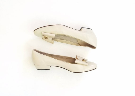 Sandals Slipon 5n Preppy Shoes Designer Vintage Bally Cream Oxfords Leather Switzerland Bowtie Heels Womens Heeled Pumps Style 8 Classic q7AH71