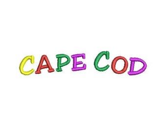 Cape Cod embroidery design