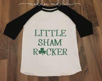 Little Sham Rocker // St. Patrick's Day // Baseball Tee // Infant // Toddler // Youth