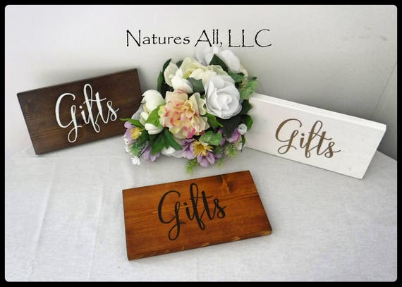 Rustic Wedding Sign/Gifts Wedding Sign/Rustic Wood Wedding Sign/Wood Sign For Gift Table/Rustic Reception Sign/Hand Painted Wedding Sign