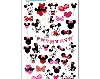 Minnie Stickers - Disney Planner Stickers