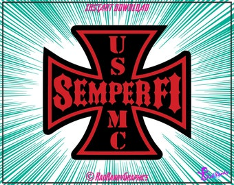 USMC, Semper Fi, Cut Files, EPS, SVG, Png, Vector