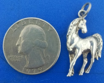 Horse Charm Pendant in Argentium Sterling Silver