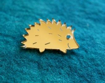 Hedgehog Brooch,Plexiglass Pin,Lasercut Acrylic,GiftsUnder 25