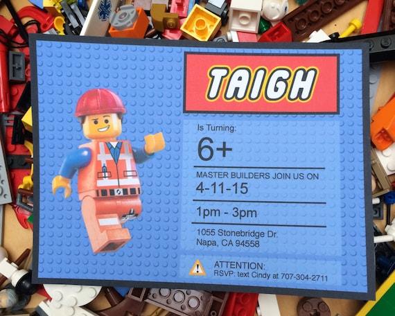 Estremamente Lego Birthday Invitation Printable Lego Party Printable XL97