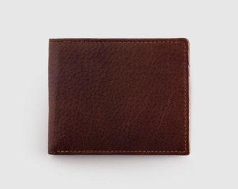 High Quality Genuine Leather Slim Bifold Wallet
