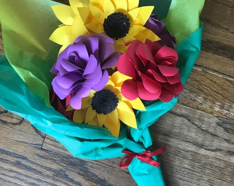 8 piece Sunflower and Roses