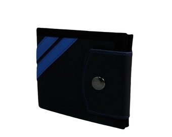 Stripes Vegan Leather Wallet for Men, for Women with Coin Pocket Bifold Wallet - UNUSUAL Wallet