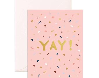 Yay Confetti Greeting Card