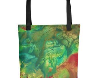 "Exclusive Original Design by Aditi-Kali-""Fearie Green"" Tote bag"