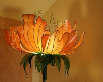 Floor Lamp Yellow Lamp Decoration Flowers Lamp Light Orange Sunset Interior  Lighting Sculpture Lamp Shade Art