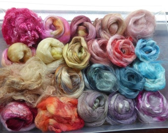 Hope Jacare - Hand dyed speciality fibre pack -  approx 120g mixed plant/speciality fibres - PLF64