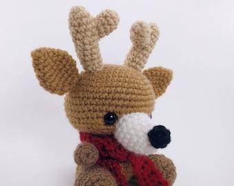PATTERN: Crochet deer pattern - amigurumi deer pattern - crocheted deer pattern - deer toy tutorial - PDF crochet pattern