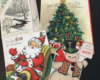 Lot of vintage Christmas cards