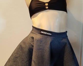 OOAK abcdefu circle skirt