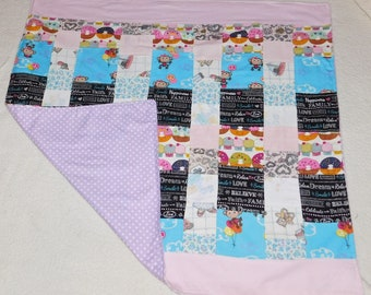 Baby Girl Flannel Quilt
