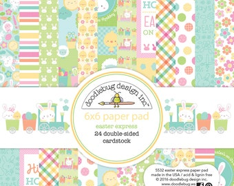 """Easter Express Doodlebug Double-Sided Paper Pad 6""""X6"""" 24/Pkg (5532)"""