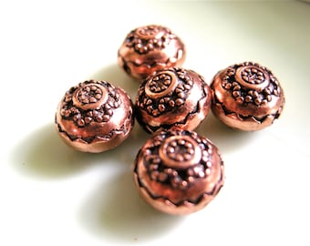 Antiqued Copper Beads (12)