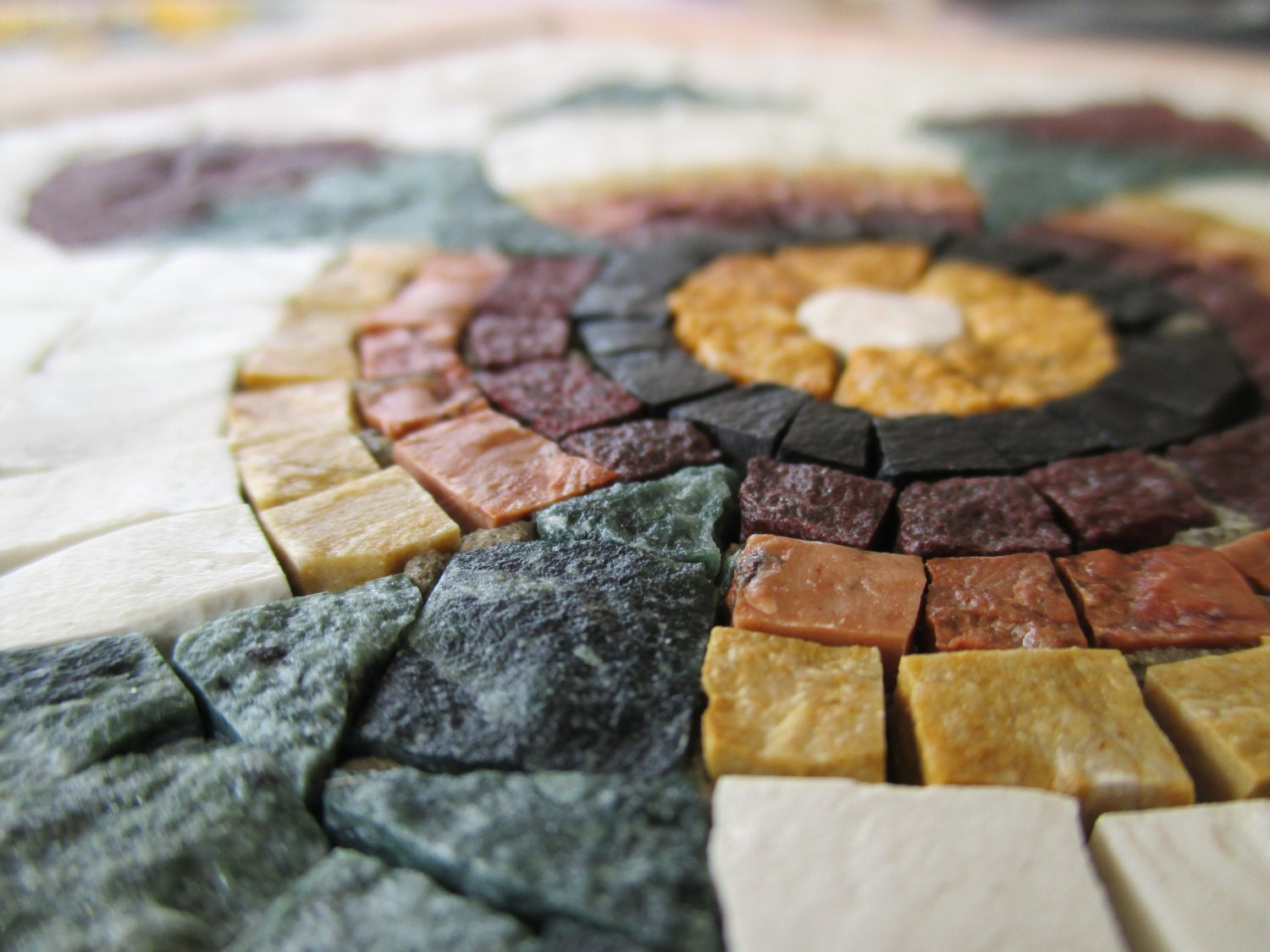 Diy roman mosaics kit for adults pomegranate flower marble mosaic sold by myrijoy solutioingenieria Choice Image