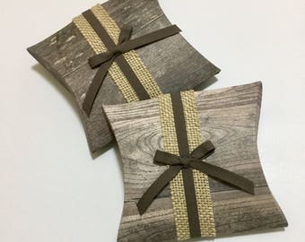 Gift Card holder / Box / Pillow Box with Note Card - Set of 2