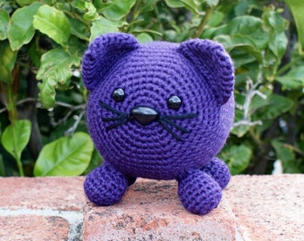 Crochet Pattern-- Roly Poly Kitty Amigurumi --Crochet Pattern