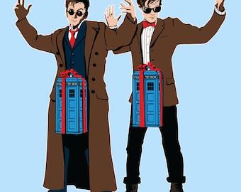 Doc In A Box Tardis Lovers -  Men's Unisex T-Shirt - Sci-Fi Pop Clothing